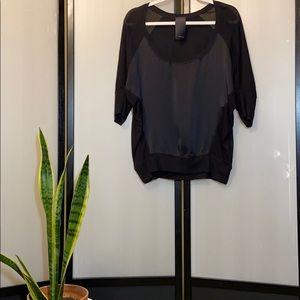 Heather   Long-Sleeve Crew Neck Pullover